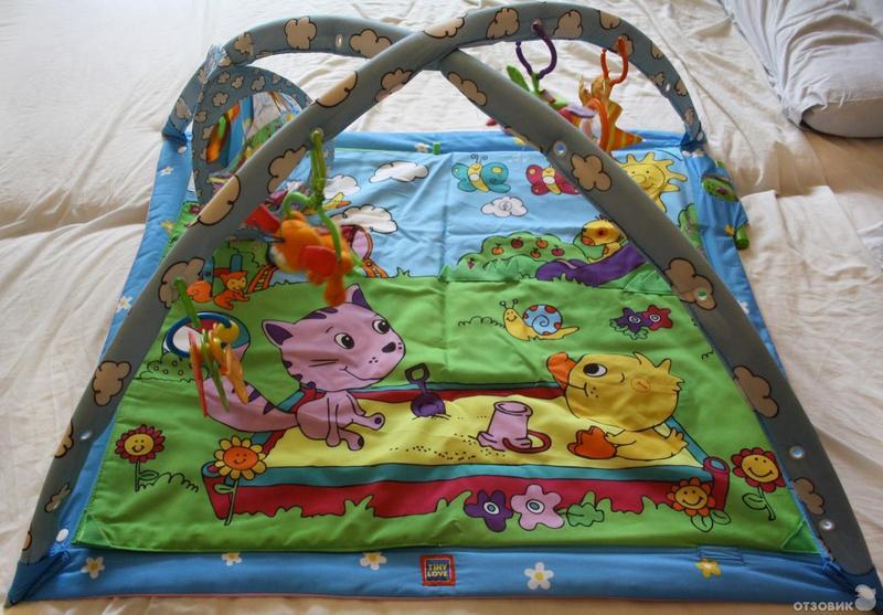 Развивающий коврик для детей до года своими руками фото