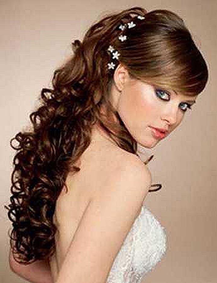 Свадебные прически на длинные волосы.