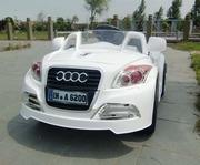 Детский электромобиль AUDI TT CABRIO (белый)  Подарок на Новый год