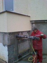 Алмазное сверление отверстий   Алмазная резка бетона без пыли