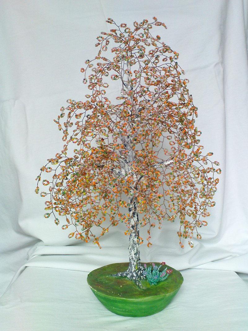 """Дерево из бисера  """"Березка """" станет хорошим украшением вашего интерьера.  Продам, предлагаю: Куплю, продам разное."""