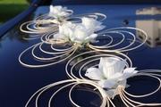 Свадебные украшения из ротанга на автомобили в Минске.