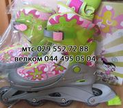 Роликовые коньки + комплект защиты + шлем