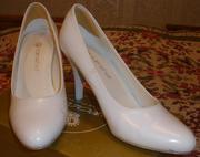 Свадебные белые туфли 35-36 размер