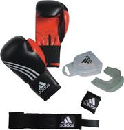 Комплект для бокса (перчатки,  капа,  бинты) adidas Boxing set Men