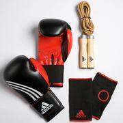 Комплект для бокса (перчатки,  супорта на кисть и скакалка) adidas