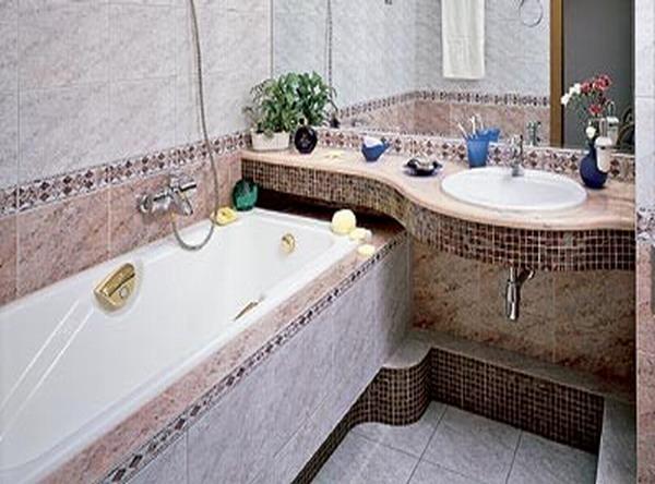 Дизайн ванной комнаты санузла.
