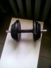 Гантеля разборная с обрезиненнимы дисками-17, 5 кг