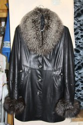 Натуральное пальто осень-зима