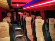 Новый черный микроавтобус Мерседес Спринтер на прокат с водителем