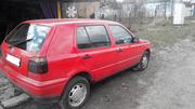 VW Golf 3,  1997г.в.,  красный,  1.6i