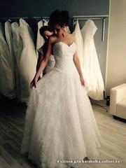 Продам ШИКАРНОЕ свадебное платье размер 44-48!!!!!