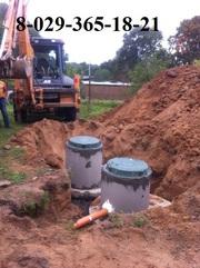 канализация из бетонных колец под ключ