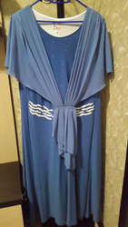 Платье большого размера сине-голубое