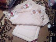 пастельное белье (матрац,  одеяло,  подушка)