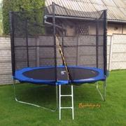 Батут складной Funfit 3, 12 м. с защитной сеткой и лестницей