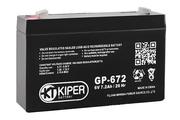 Аккумуляторная батарея 6V/7.2Ah Kiper GP-672
