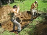 Землекопы: Траншеи,  ямы,  выравнивание территории