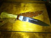 нож охотничный (ручной рабаты) рукоятка из оленя