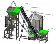 Полуавтоматическая линия для расфасовки гранулированных продуктов в пэ