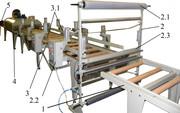 Линия упаковки габаритных изделий в термоусадочную пленку