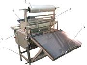 Полуавтоматическая установка для упаковки рулонов в пленку