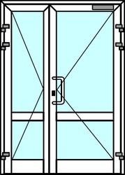 Теплые алюминиевые двери из профиля Алютех серии ALT W72