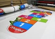 Изготовление напольных наклеек