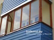 Балконные рамы из дерева.