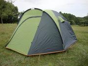 Палатка туристическая 4 местная с двумя входами.