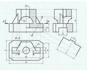 Чертежи по инженерной графике,  начертательной геометрии,  репетиторство