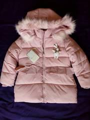 Детская зимняя куртка для девочки 4-5 лет.
