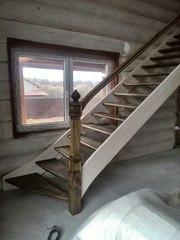 Купить деревянную лестницу в дом,  коттедж,  на дачу. Любая форма и размер.