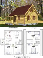 Дачные каркасные и брусовые домики