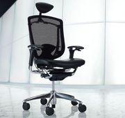 Эргономичные кресла OKAMURA CONTESSA Япония спинка/сетка,  сидение/кожа
