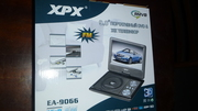 Портативный DVD плеер XPX EA 9066 дагональ 9.5 дюйма поворотный экран