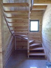 Лестницы деревянные на заказ от производителя. Скидка 10% до 31 января