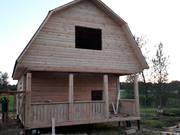 Дом сруб из бруса Алексей 6 × 6 с террасой,  установка доставка