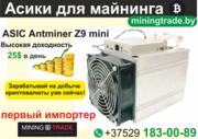 Асик майнер BITMAIN Antminer Z9 mini.