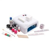 Набор для наращивания ногтей гелем NailsTime с лампой 36в (домашний)