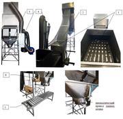 Полуавтоматическая линия фасовки древесного угля,  пелет,  прочих кусковых и гранулированных продуктов