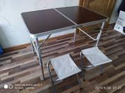 Стол туристический + 2 стула. Новый,  запечатан