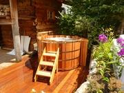 Купели из кедра,  дуба,  лиственницы,  сосны.