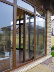 Патио окна раздвижные из алюминиевого профиля