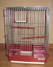 клетка для попугаев в идеальном состоянии